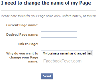 Change your facebook page name -facebookfever.com