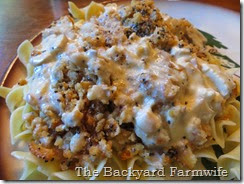 poppy seed chicken & mushrooms - The Backyard Farmwife