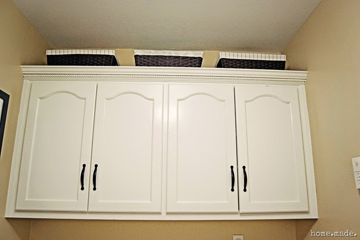 Laundry Room Reveal White Cabinets