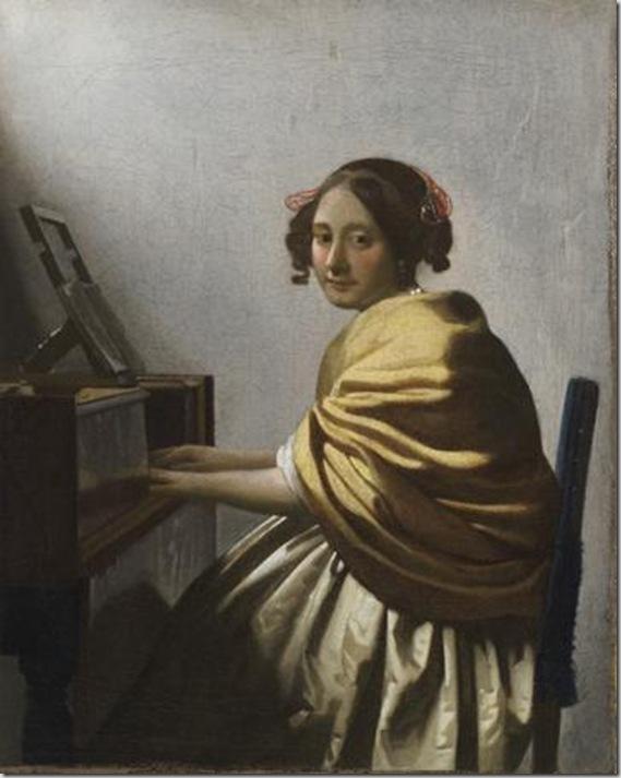 Giovane donna seduta al virginale, 1670 - 1672 ca. - Collezione privata
