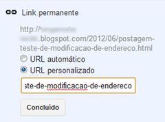 Link permanente - URL personalizado