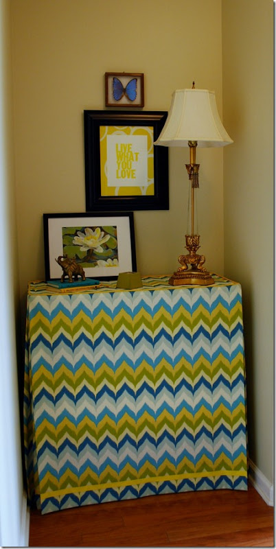 fabric table skirt