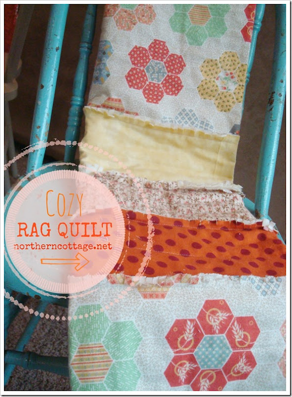 {NorthernCottage} cozy RAG QUILT throw!!