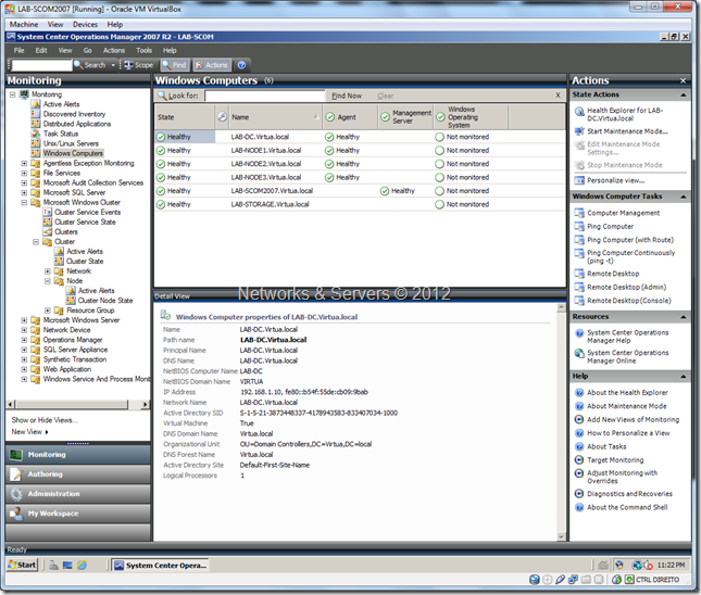 Virtualization Lab SCOM2007