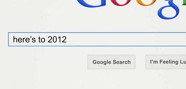 Rétrospective de 2012 selon Google
