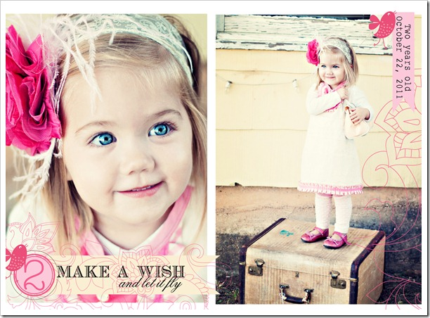 two year old birthday announcement