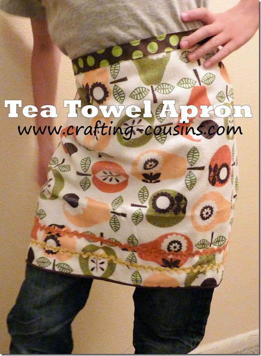 Tea Towel Apron Tutorial from the Crafty Cousins