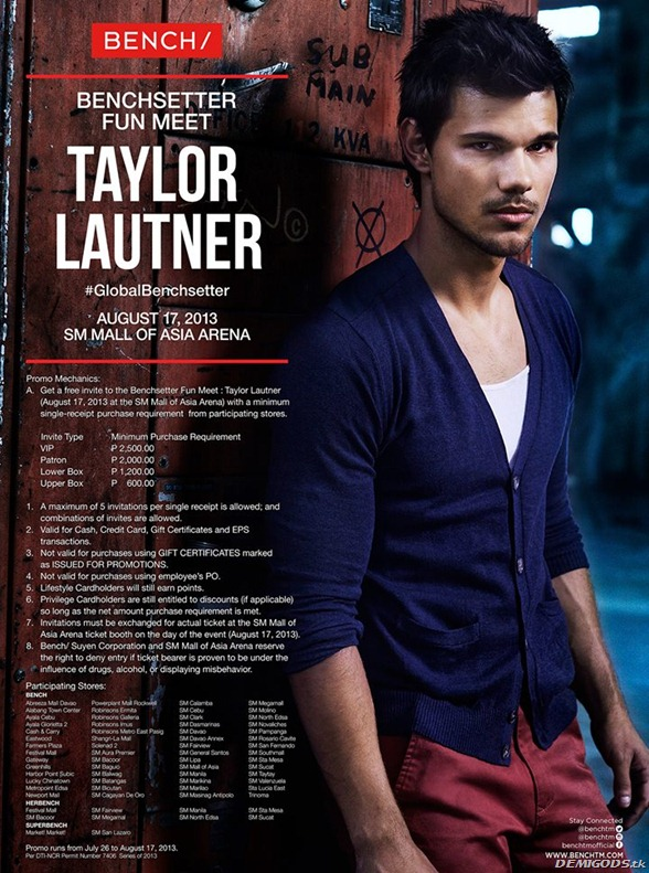 Taylor Lautner Bench