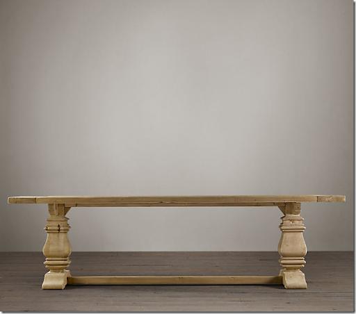 restoration hardware dining table look alike 2