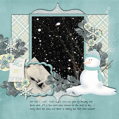 Katie Creates - Let it Snow - First snow