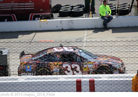 'Landon Cassill's car on grid, 2013 STP Gas Booster 500' photo (c) 2013, chayes_2014 - license: http://creativecommons.org/licenses/by-sa/2.0/