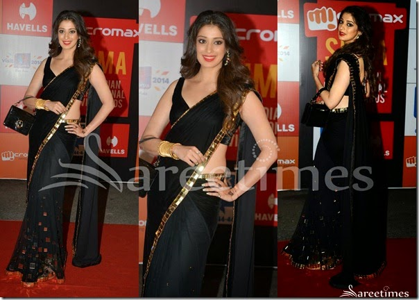 Lakshmi_Rai_Black_Saree