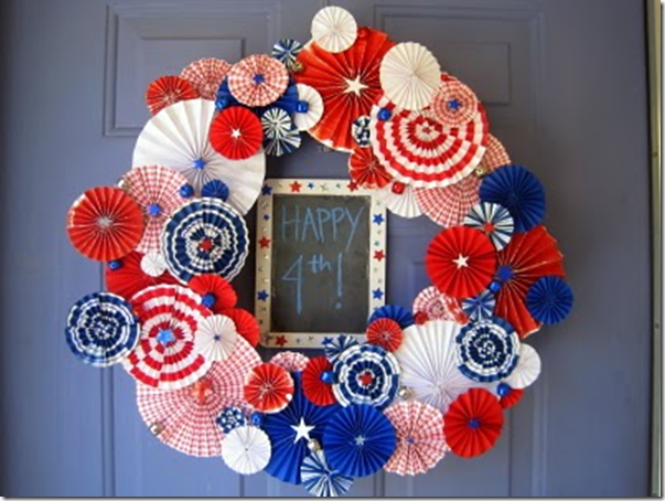 Firework wreath from Copy cat crafts
