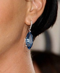Charlize Theron Chopard Aquamarine Drop Earrings