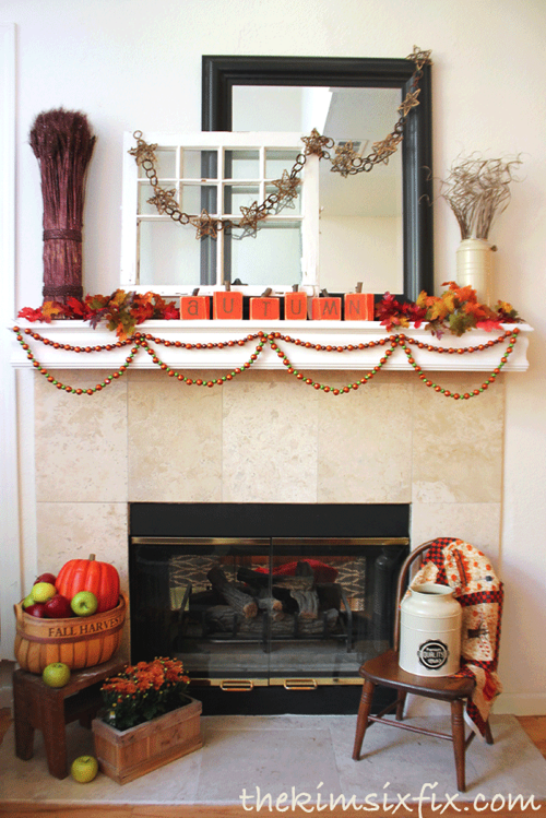 Harvest mantel for the Fall