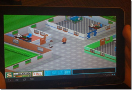 Theme Hospital giocato su Tablet