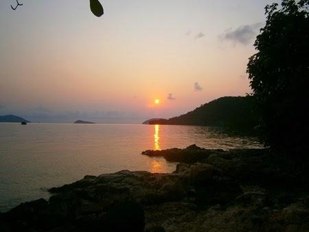 amanece en Koh Wai