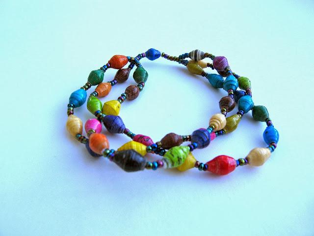 KATE: 3-STRAND Paper Bead Bracele