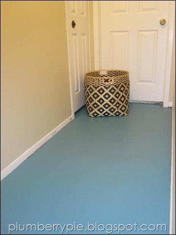 Plumberry Pie Teal Painted Hall Floor