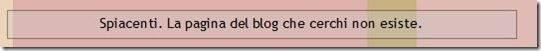 pagina non trovata blogger