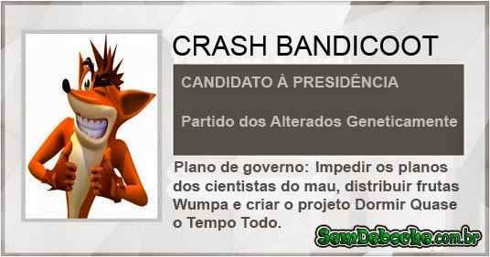 CANDIDATO: CRASH BANDICOOT