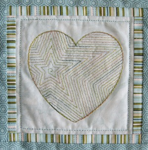 Heart with Shape Fill and a Triple Stitch Contour