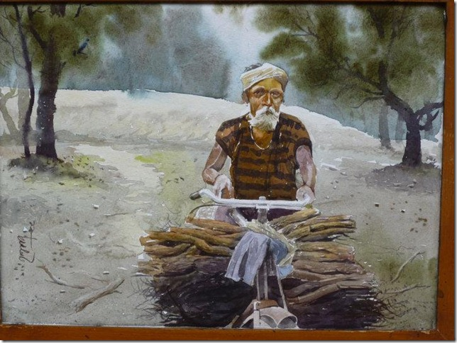 Painting of rural lifestyle