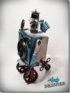 andy skinner altered art robot