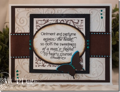Proverbs 27:9 card Friendship set www.papercraftmemories.com