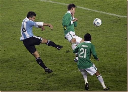 gol agüero vs bolivia copa america 2011