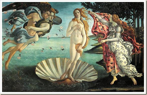 Botticelli - El nacimiento de Venus