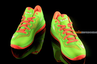 nike lebron 11 low gs volt bright orange 1 01 Nike Lebron XI Low GS in Bright Volt and Really Bright Orange