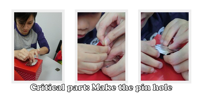 Make the pin hole