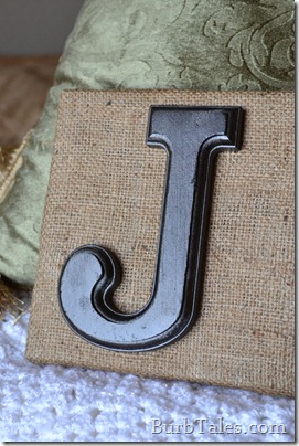 Cheap and easy burlap wall art