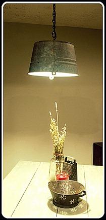 Galvanized Bucket Pendnt Light
