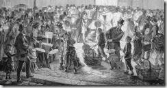 Descente dans les catacombes à la bougie au XIXe siècle