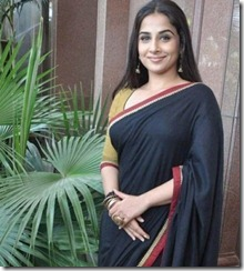 vidhya _in_black saree