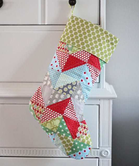 Quilted Stocking, Tutorial at cluckclucksew