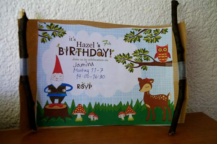 Bells and whistles hazels nature birthday party she requested a nature party and i was good with that so here are the invitations we made stopboris Gallery