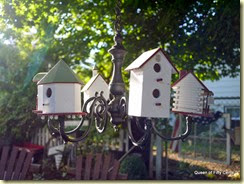 Birdhouse chandelier