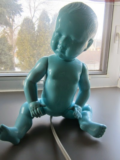 Petitcolin baby lamp blue