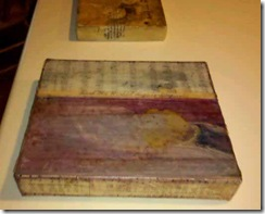 side view of encaustic