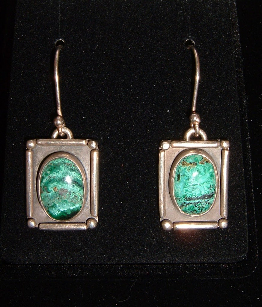 Chrysocolla Earrings...Sold