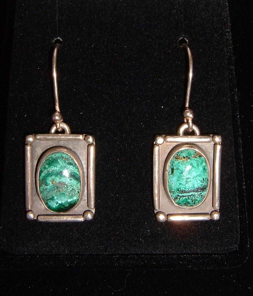 Chrysocolla Earrings...Sold