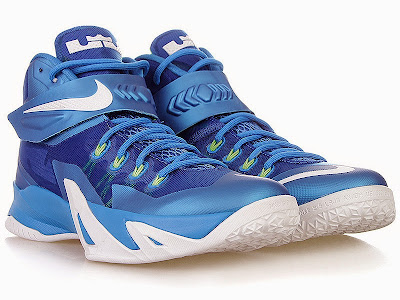 nike zoom soldier 8 gr blue white volt 1 04 Closer Look at Nike Zoom Soldier 8 Blue / Volt Dropping Next Week