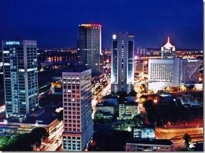 Johor Bahru city by night