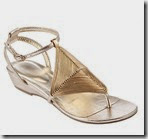 Gold Diamond Weave Sandals