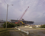 Saw the USS Saratoga  on my morning jog. It was decommissioned in 1994 and will be scrapped