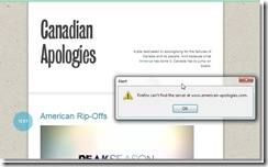 Canadian Apologies on Tumbler