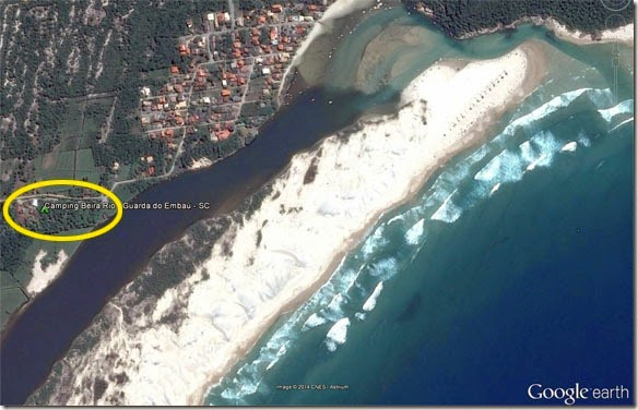 Vista aérea Camping Beira Rio